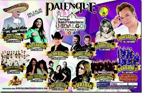 Elenco Palenque Pachuca 2014